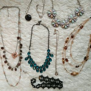 Jewelry lot of 7 necklaces - little to no wear!